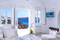 Canaves Oia Villa - living room